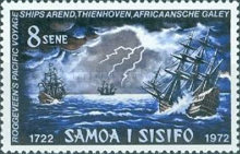 [The 250th Anniversary of Discovery of Samoa by Jacob Roggeveen, type GA]