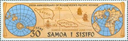 [The 250th Anniversary of Discovery of Samoa by Jacob Roggeveen, Typ GC]