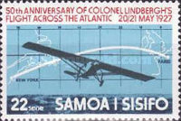 [The 50th Anniversary of First Translantic Flight by Charles Lindbergh, Typ JM]