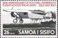 [The 50th Anniversary of First Translantic Flight by Charles Lindbergh, Typ JO]