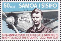 [The 50th Anniversary of First Translantic Flight by Charles Lindbergh, Typ JP]