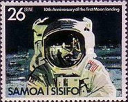 [The 10th Anniversary of Moon Landing by Apollo 11, Typ LU]