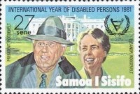 [International Year for Disabled Persons - President Franklin D. Roosevelt Commemoration, 1882-1945, type NK]