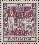 [Coat of Arms - New Zealand Revenue Stamps Overprinted