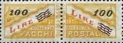 [Parcel Post Stamp of 1965 Surcharged, type D10]