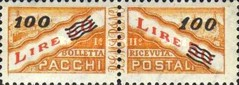 [Parcel Post Stamp of 1956 Surcharged, type D4]