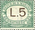 [Numeral Stamps, Typ A16]