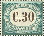 [Numeral Stamps, Typ A2]