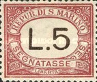 [Numeral Stamps, Typ A7]