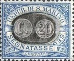 [Numeral Stamps of 1925 Surcharged, Typ B5]