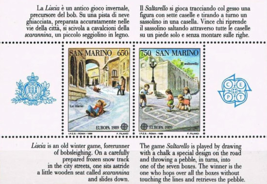 [EUROPA Stamps - Children's Games, Typ ]