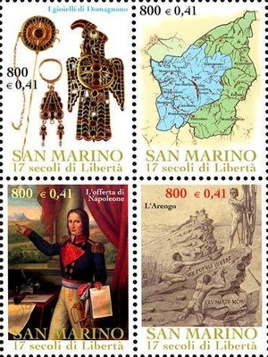[The 1700th Anniversary of San Marino, type ]