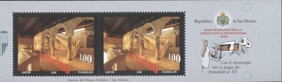 [European Year of Creativity and Innovation - 3-D Stamps, Typ ]