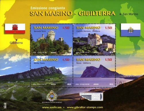 [San Marino-Gibraltar Views - Joint Issue, Typ ]