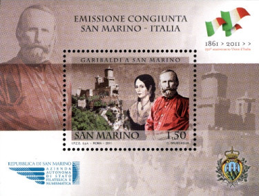 [The 150th Anniversary of the Unification of Italy - Joint Issue with Italy, Typ ]