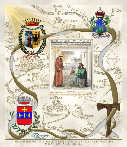 [The 800th Anniversary of the Donation of the Territory of La Verna to San Francesco, Typ ]