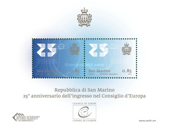 [The 25th Anniversary of the Admission of San Marino in the Council of Europe, Typ ]