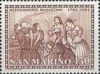 [The 200th Anniversary of the Birth of Alessando Manzoni, 1785-1873, Typ AKP]