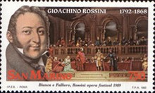 [The 200th Anniversary of the Birth of Gioachino Rossini, 1792-1868, Typ AQY]