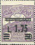 [Not Issued Express Stamp Surcharged and used as Postage Stamp, type AR]