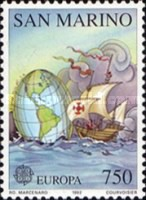 [EUROPA Stamps - The 500th Anniversary of the Discovery of America, Typ ARP]