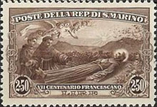 [The 700th Anniversary of the Death of St. Francis of Assisi, Typ AU]