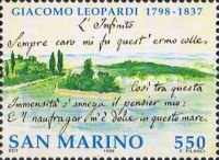 [The 200th Anniversary of the Birth of Giacomo Leopardi, 1798-1837, Typ BBR]