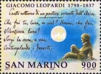 [The 200th Anniversary of the Birth of Giacomo Leopardi, 1798-1837, Typ BBT]