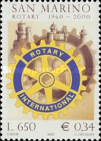 [The 40th Anniversary of the Rotary Club, San Marino, type BGB]