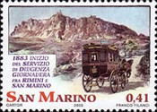 [The 200th Anniversary of Rimini-San Marino Post Carriage, type BOM]