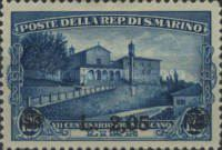 [Death of St. Francis of Assisi Stamps of 1928 Surcharged, type BP]