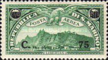 [Airmail -  Mount Titan (Monte Titano) - Airmail Stamps of 1931 Surcharged, Typ BQ]