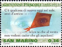 [The 150th Anniversary of the Birth of Giovanni Pascoli, 1855-1912, Typ BSZ]
