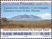 [The 150th Anniversary of the Birth of Giovanni Pascoli, 1855-1912, Typ BTA]