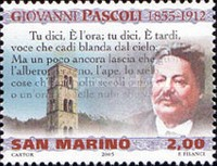 [The 150th Anniversary of the Birth of Giovanni Pascoli, 1855-1912, Typ BTC]