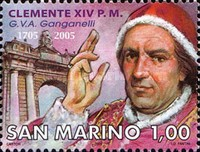 [The 300th Anniversary of the Birth of Pope Clemens XIV, 1705-1774, Typ BTR]