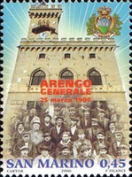 [The 100th Anniversary of the Regular Meeting of the Heads of Great  Families Arengo, Typ BTZ]