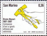 [The 100th Anniversary of the Birth of Bruno Munari, 1907-1998, Typ BVS]