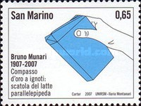 [The 100th Anniversary of the Birth of Bruno Munari, 1907-1998, Typ BVT]