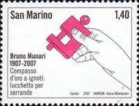 [The 100th Anniversary of the Birth of Bruno Munari, 1907-1998, Typ BVU]