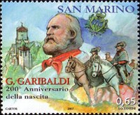 [The 200th Anniversary of the Birth of Giuseppe Garibaldi 1807-1882, Typ BVW]