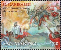 [The 200th Anniversary of the Birth of Giuseppe Garibaldi 1807-1882, Typ BVX]