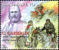 [The 200th Anniversary of the Birth of Giuseppe Garibaldi 1807-1882, Typ BVY]