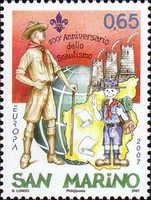 [EUROPA Stamps - The 100th Anniversary of Scouting, Typ BWB]