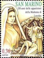 [The 150th Anniversary of Holy Mary`s Appearance in Lourdes, Typ BXN]