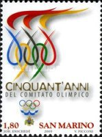 [The 50th Anniversary of the National Olympic Committee, Typ BZF]