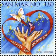 [The 50th Anniversary of the San Marino Association of Blood and Organ Donors, Typ CAP]