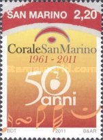 [The 50th Anniversary of the San Marino Choir, Typ CCG]