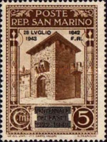 [Not Issued Edtion Overprinted - 28 LUGLIO 1943-1642 d. F. R ., Typ CE]