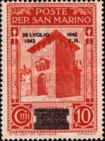 [Not Issued Edtion Overprinted - 28 LUGLIO 1943-1642 d. F. R ., Typ CE1]